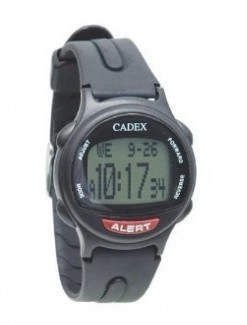 12 Alarm e-pill watch BLACK Medication Reminder and ALERT Watch (952433) - TTW-CAD-BLACK - Medication Aids/Medication Reminders & Alarms