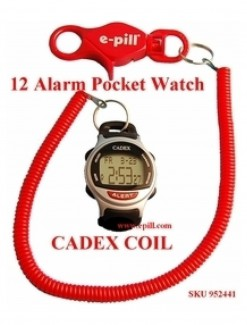 12 Alarm e-pill watch COIL Medication Reminder and ALERT Watch (952441) - TTW-CAD-COIL - Medication Aids/Medication Reminders & Alarms