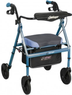 Airgo Comfort Plus XWD Rollator - Iridescent Blue - Bariatric & Large/Bariatric Rollators