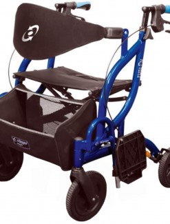 Airgo Fusion Side-Folding Rollator & Transport Chair - Rollators/