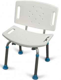 AquaSense Adjustable Bath Seat with Back - Bathroom Safety/Shower Chairs & Seats