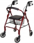Seat Walker With Handbrakes & Curved Backrest - Rollators/