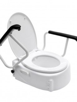 Raised Toilet Seat Swing Back Arms - Bathroom Safety/Raised Toilet Seats