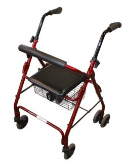 Seat Walker Compression Brakes and Curved Backrest - Walkers/Walkers with Wheels