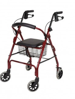 Seat Walker Handbrakes and Curved Backrest - Walkers/Walkers with Wheels