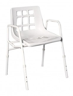 Shower Chair Extra Wide Steel - Bathroom Safety/Shower Chairs & Seats