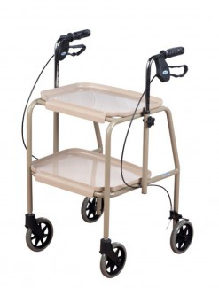 Trolley Walker with Handbrakes Adjustable Height - Walkers/Specialty