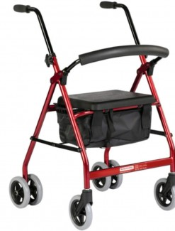 BetterLiving Push Down Wheeled Walker - Rollators/