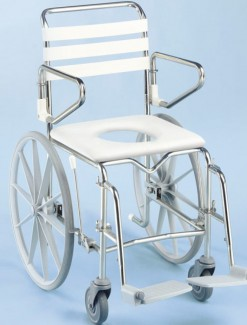 Mobile Shower Commode Self Propelled Wide - Bathroom Safety/Commodes
