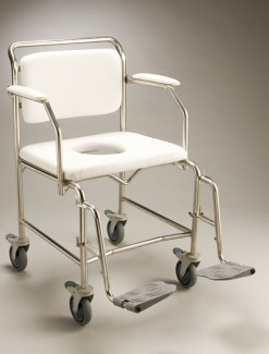Mobile Shower Commode Transit Swingout Legrest - Bathroom Safety/Commodes