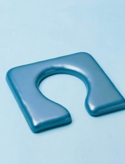 Open Front Padded Seat for Over Toilet Aid - Bathroom Safety/Toilet Aids