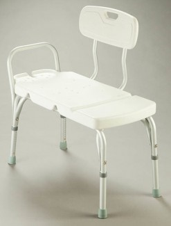 Transfer Bench with Backrest - Bathroom Safety/Transfer Benches