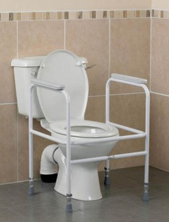 Toilet Surround Height Adjustable with Arm Rests - Bathroom Safety/Bathroom & Toilet Accessories