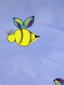 Bees on Light Blue Coated Table Cloth, Placemats & Aprons - Daily Aids/Dining & Eating Aids