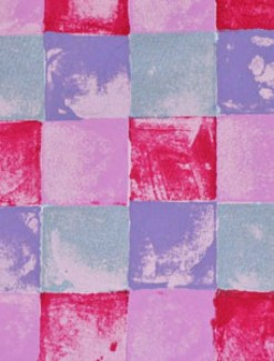 Blocks in Lilac and Pink Coated Table Cloth, Placemats & Aprons - Daily Aids/Dining & Eating Aids