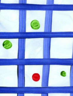 Blue Check with Dots Coated Table Cloth, Placemats & Aprons - Daily Aids/Dining & Eating Aids