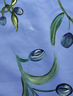 Blue Olives Coated Table Cloth, Placemats & Aprons - Daily Aids/Dining & Eating Aids
