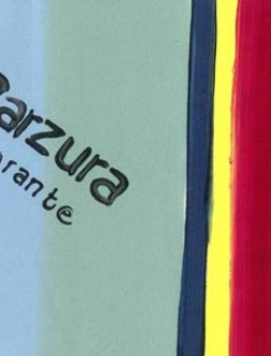 Blue, Yellow, Red and Black Stripe and Logo Coated Table Cloth, Placemats & Aprons - Daily Aids/Dining & Eating Aids