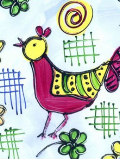 Chickens Coated Table Cloth, Placemats & Aprons - Daily Aids/Dining & Eating Aids