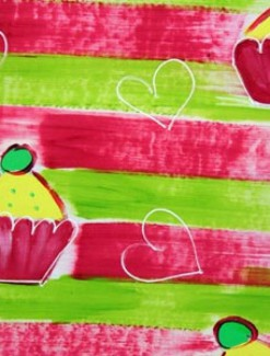 Cupcakes and Hearts Coated Table Cloth, Placemats & Aprons - Daily Aids/Dining & Eating Aids