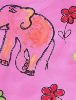 Elephants Coated Table Cloth, Placemats & Aprons - Daily Aids/Dining & Eating Aids