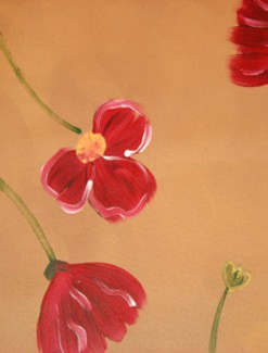 Floating Red Poppies Coated Table Cloth, Placemats & Aprons - Daily Aids/Dining & Eating Aids