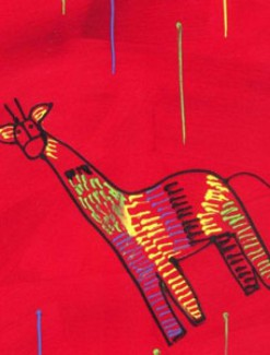 Giraffe on Red Coated Table Cloth, Placemats & Aprons - Daily Aids/Dining & Eating Aids