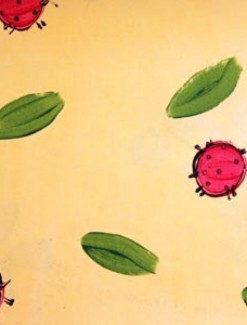 Ladybirds on Cream Coated Table Cloth, Placemats & Aprons - Daily Aids/Dining & Eating Aids