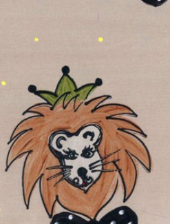 Lions on Brown Coated Table Cloth, Placemats & Aprons - Daily Aids/Dining & Eating Aids