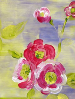 Roses on Tie-Dye Background Coated Table Cloth, Placemats & Aprons - Daily Aids/Dining & Eating Aids