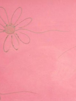 Silver Daisy on Baby Pink Coated Table Cloth, Placemats & Aprons - Daily Aids/Dining & Eating Aids
