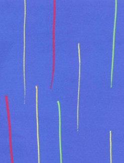Stripes on Blue Coated Table Cloth, Placemats & Aprons - Daily Aids/Dining & Eating Aids