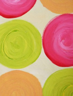 Sweet Circles Coated Table Cloth, Placemats & Aprons - Daily Aids/Dining & Eating Aids