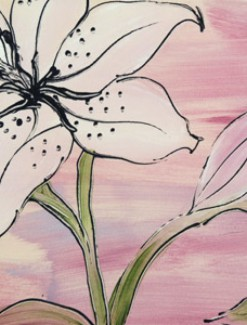 Tiger lily on Lilac Coated Table Cloth, Placemats & Aprons - Daily Aids/Dining & Eating Aids