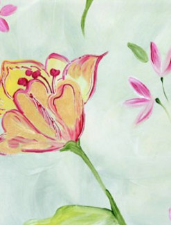 Tulip and Pink Flowers Coated Table Cloth, Placemats & Aprons - Daily Aids/Dining & Eating Aids