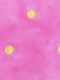 Yellow Dots on Pink Coated Table Cloth, Placemats & Aprons - Daily Aids/Dining & Eating Aids