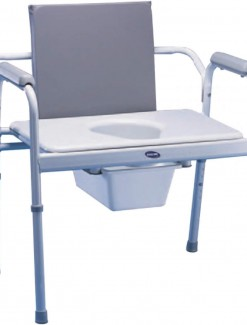Invacare Bariatric Fixed Arm Commode - Bathroom Safety/Commodes
