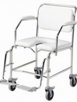 Bariatric Shower Commode Attendant Propelled - Bathroom Safety/Commodes