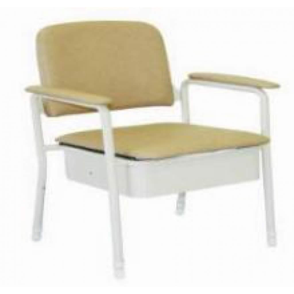 latest bedside commode deluxe 50cm wide seat only from. Black Bedroom Furniture Sets. Home Design Ideas