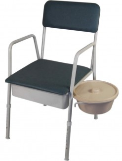 Bedside Commode with swing Out Bowl - Phosphate - Bathroom Safety/Commodes
