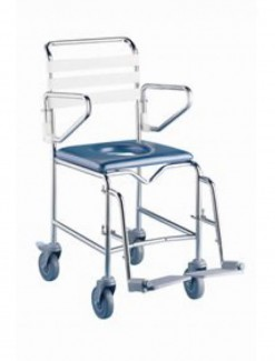 Shower Commode Att. Propelled - Swing Away Footrest - Bathroom Safety/Commodes