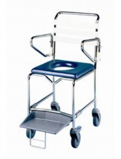 Shower Commode with Platform Footrest - Bathroom Safety/Commodes