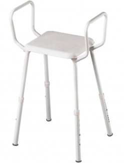 Shower Stool with Arms - Bathroom Safety/Shower Chairs & Seats