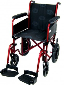 OSD Transit Wheelchair - Burgundy - Manual Wheelchairs/Standard Weight
