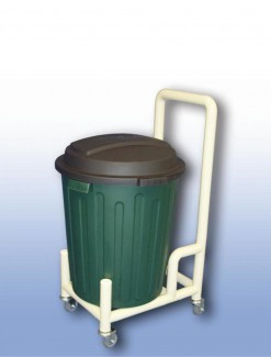 75 litre Bin dolly with handle - Professional/Trolleys/Cleaning Trolleys