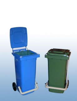 80Litre Foot operated wheelie bin - Professional/Trolleys/Laundry Trolleys