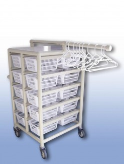 Compact Laundry Valet Trolley - Small Basket (x20) - Professional/Trolleys/Laundry Trolleys