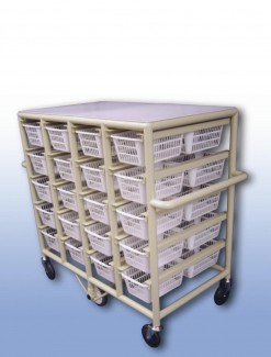 Compact Laundry Valet Trolley - Small Basket (x40) - Professional/Trolleys/Laundry Trolleys