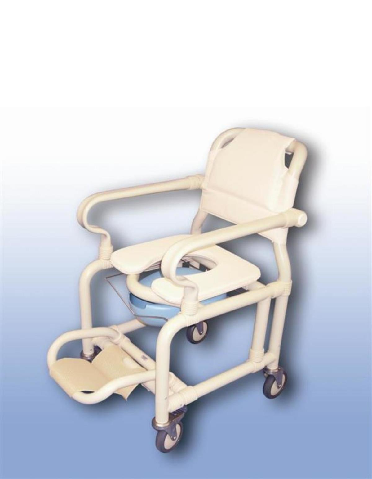 Deluxe Mobile Shower Chair With Pan Pan Holder