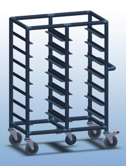 Double Bay 14 x tray service trolley - Professional/Trolleys/Food service Trolleys